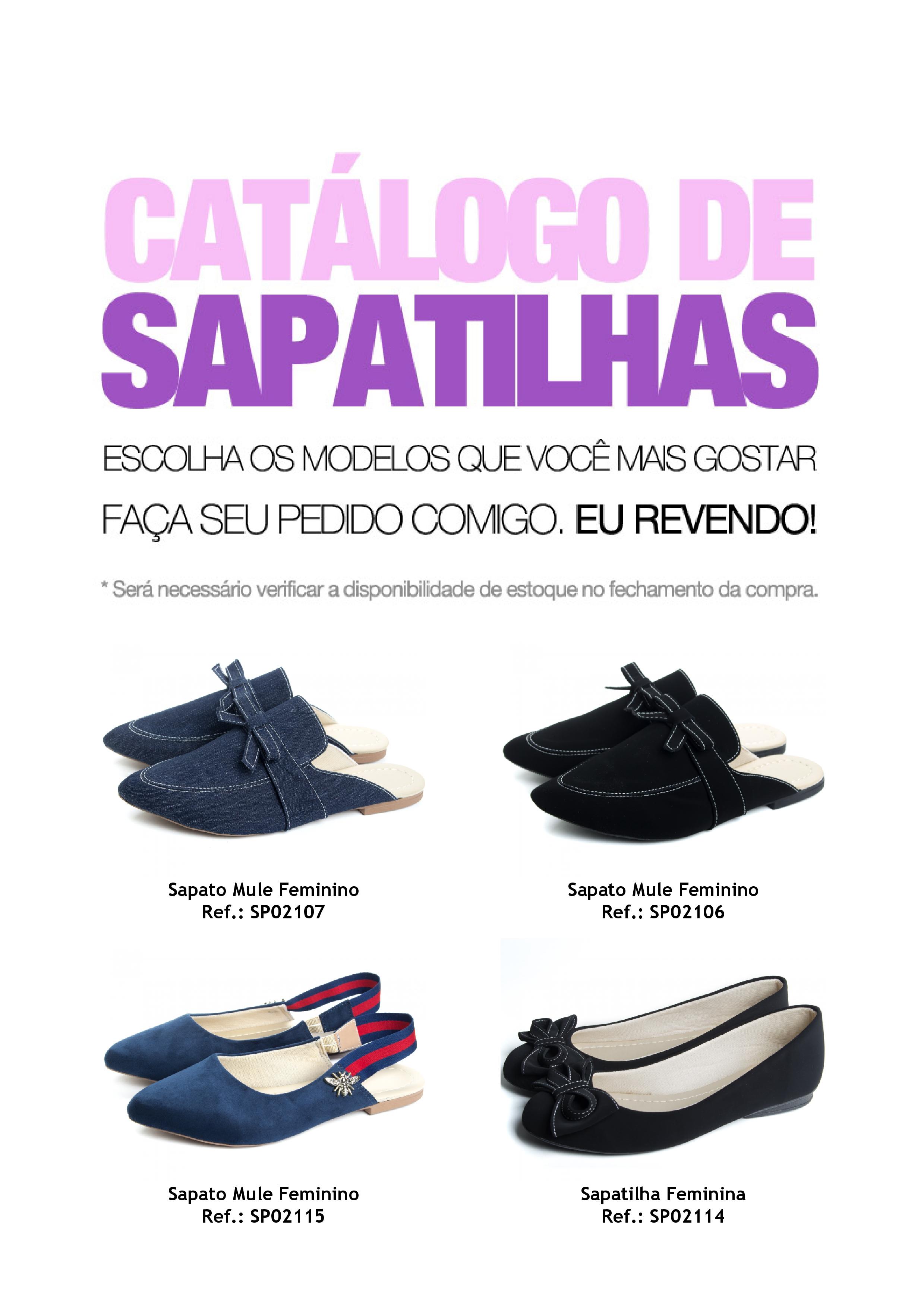 5f3081f14 Catálogo de Sapatilhas para Revenda - Faça download